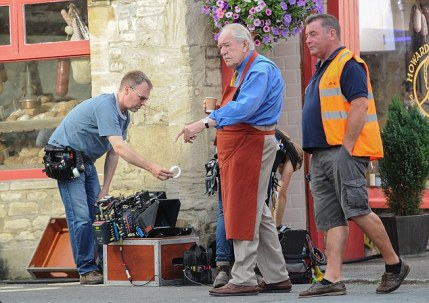 Actors seen on set for the filming of J K Rowling's 'The Casual Vacancy'